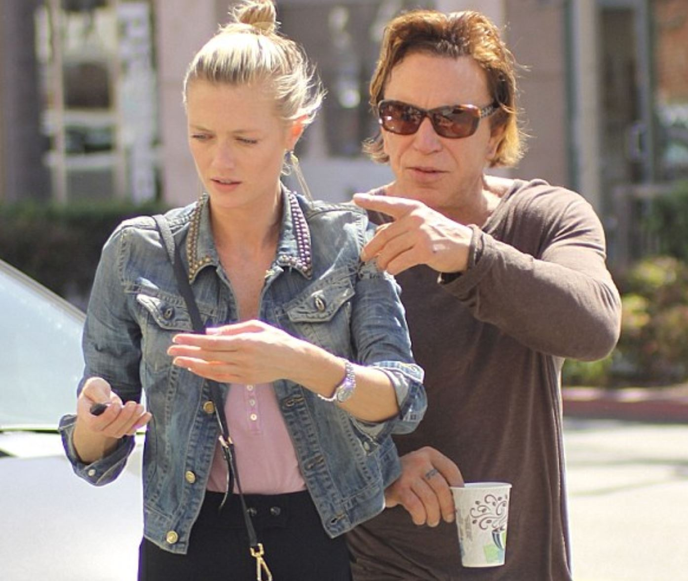 Mickey Rourke and young girlfriend